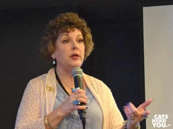 "Speaking at Merck's ""BlogPurr"" about reaching readers."