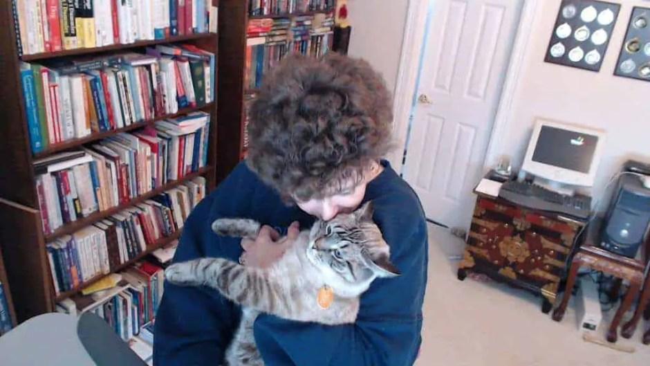Amy Shojai holding cat