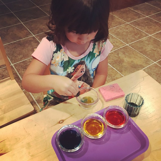 Color mixing this morning sahm montessoriathome montessorikid montessorichild primarycolors