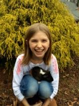 Raffey and her guinea pig