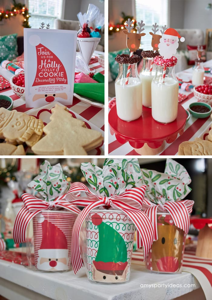 Christmas Cookie Decorating Party   Amy s Party Ideas Christmas Cookie Decorating Party Ideas from AmysPartyIdeas com and  Swoozies com   Sugar Cookie