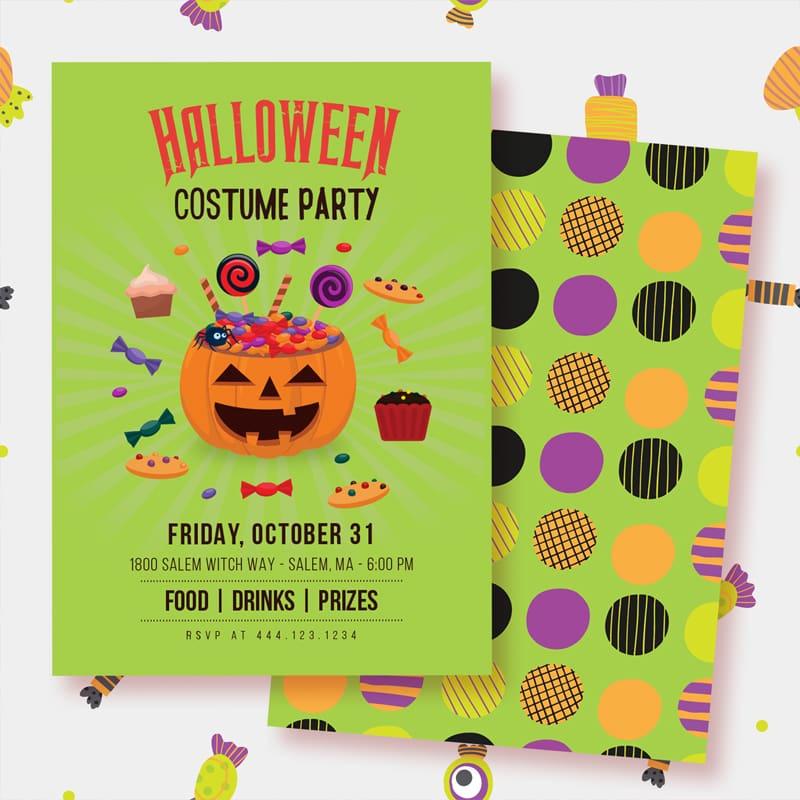 halloween costume party invitation printable