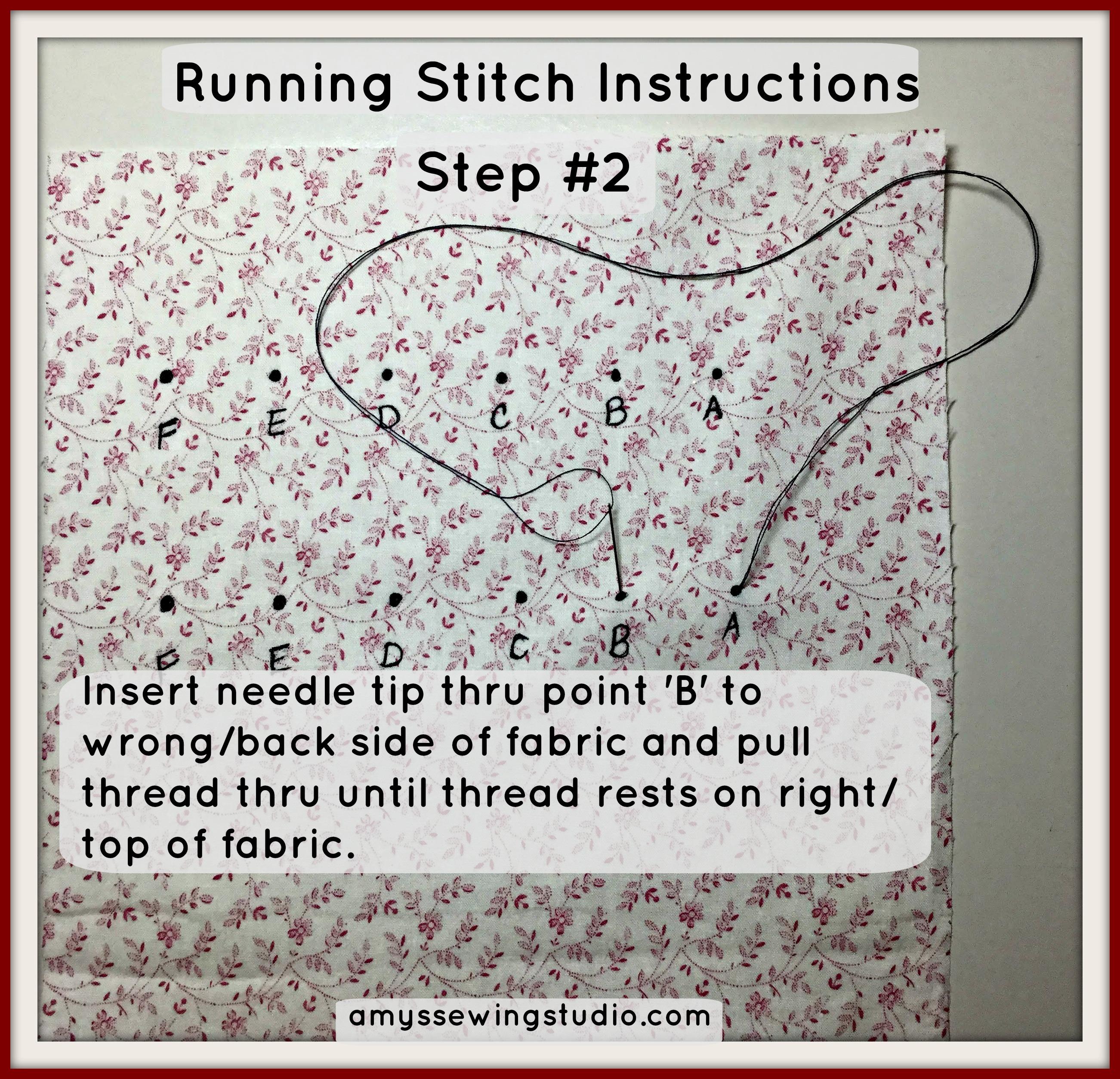 Running Stitch Tutorial 2