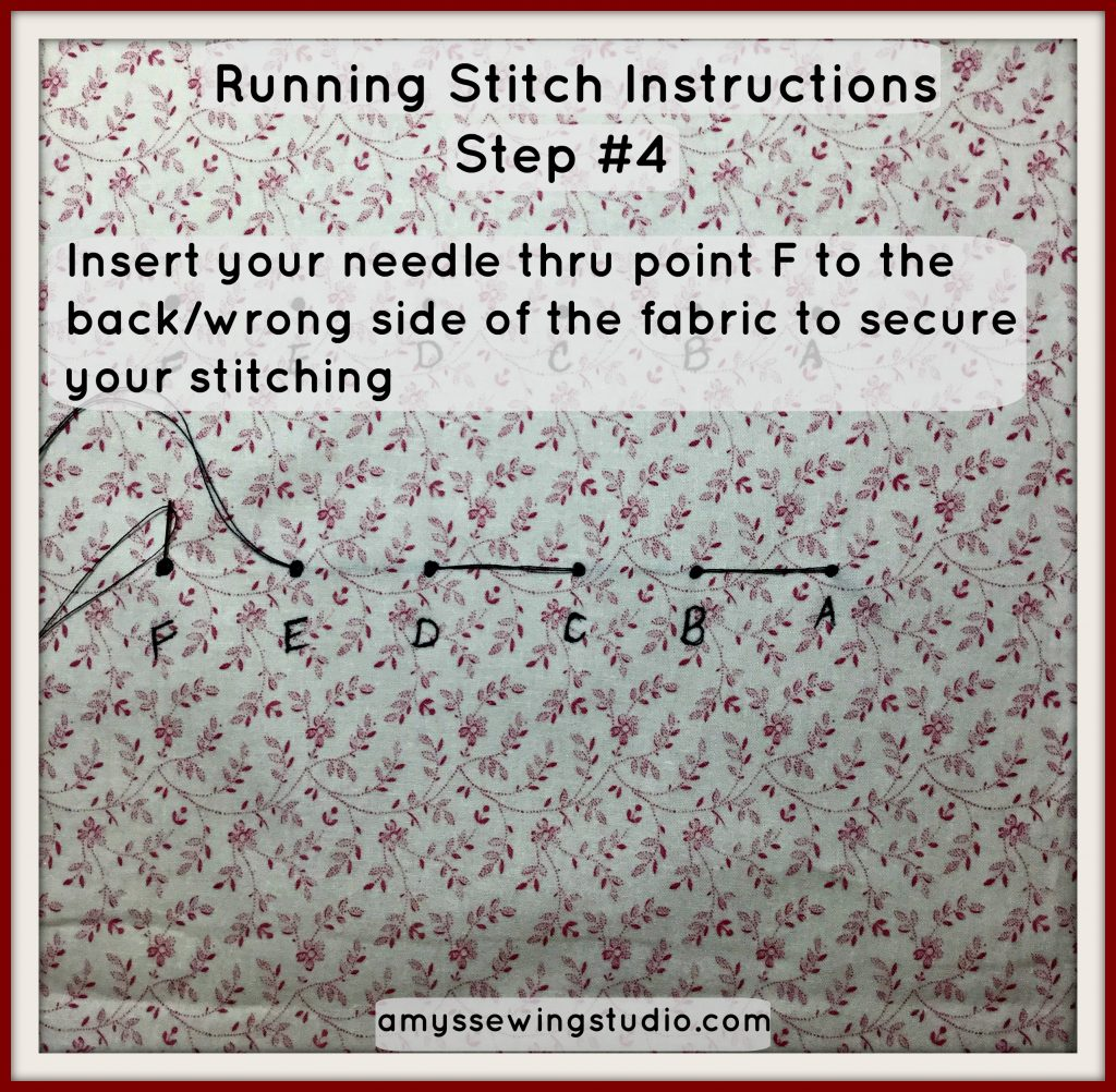 Running Stitch Instructions For Beginners Amy S Sewing Studio