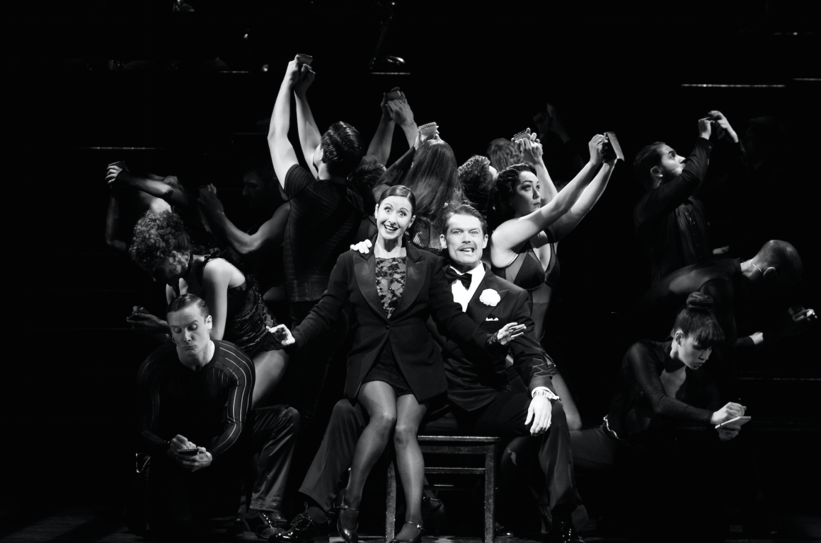 CHICAGO. Hayley Tamaddon as 'Roxie Hart' and John Partridge as 'Billy Flynn'. Photo by Catherine Ashmore.