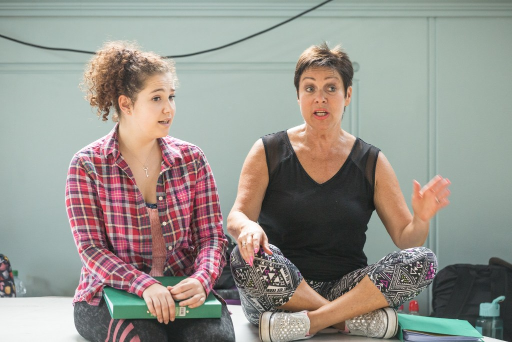 Denise Welch and Emilie du Leslay in rehearsals for The Wind in the Willows Credit Marc Brenner