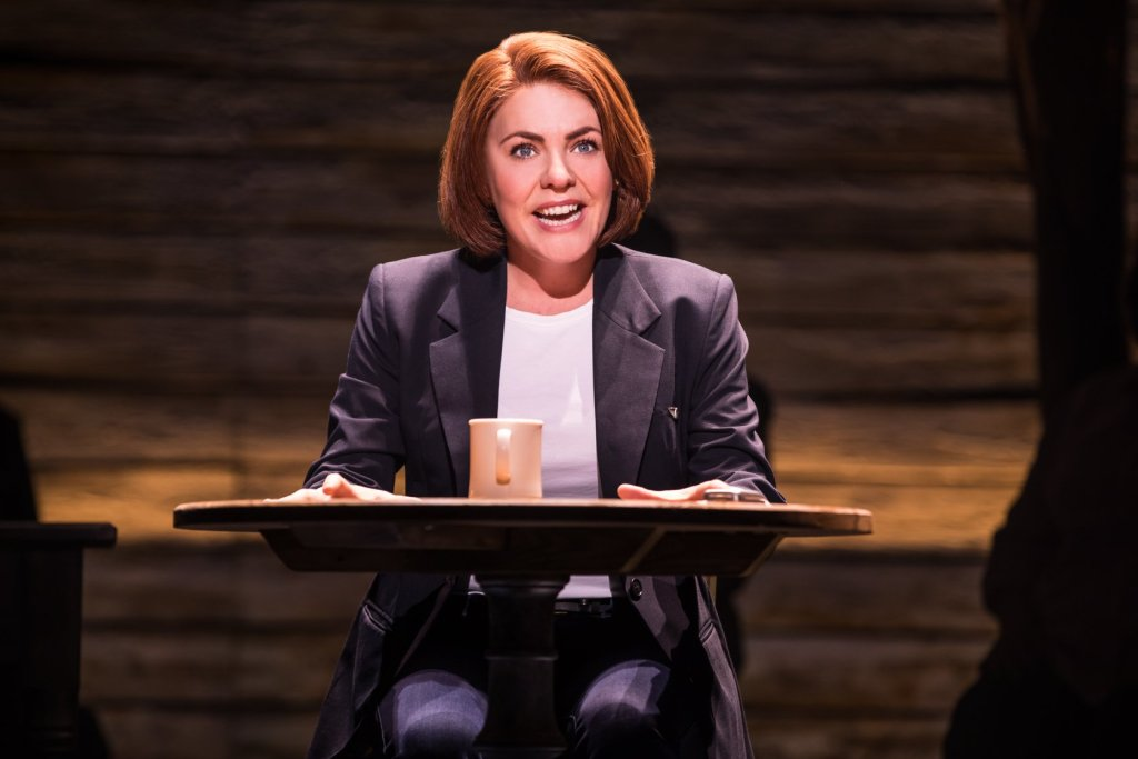 Rachel Tucker in the West End cast of Come From Away