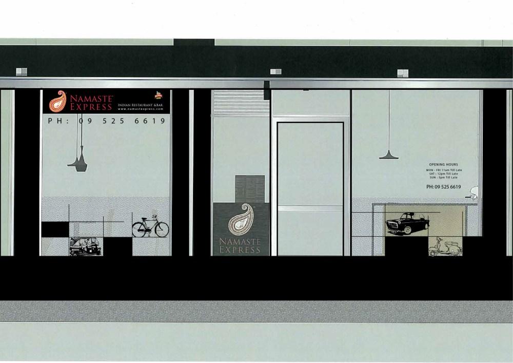 Amyth and amit Namste Express - Restaurant Interior and exterior signage design