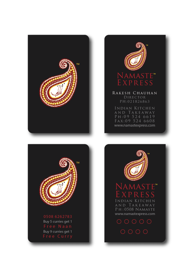 Amyth and amit Namste Express business card and coffee card design - branding in sydneyArtboard 2@2x