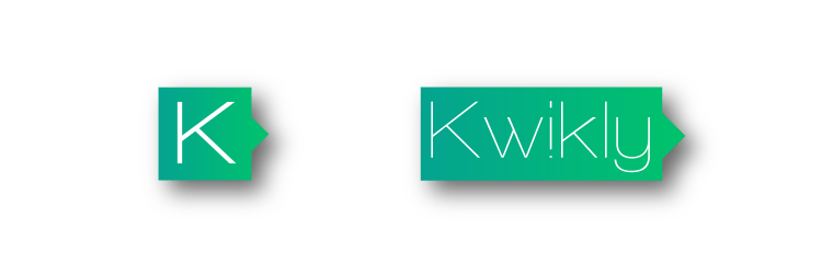 Kwikly Voice App - Logo Design for smartphone app