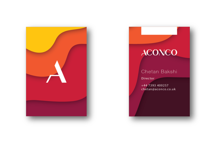 ACONCO Branding - business card design - amyth and amit 2