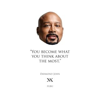 This man has been an inspiration for as long as I can remember. His strategy to connect #FUBU to the growing #HipHopCulture is mind-blasting! I've learned that our brain is a tool powerful beyond our understanding. I am constantly consuming information that I reckon will help me make my vision a reality. Most of which emphasises #DaymondJohn's quote! 👌#itsacircle #brandstrategy