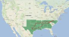 2013 Austin Moto GP trip map