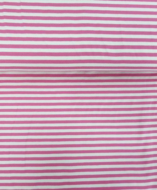 Lillestoff Ringeljersey rosa/weiß