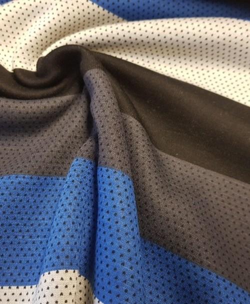 Alpenfleece big Stripes blue