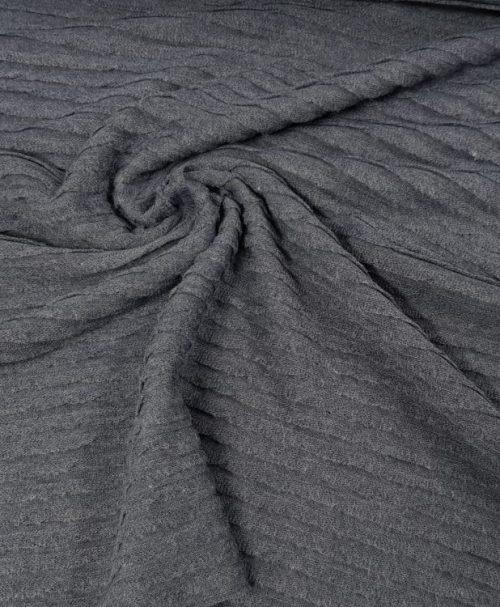 Volantstrick Pletter Jeansblau