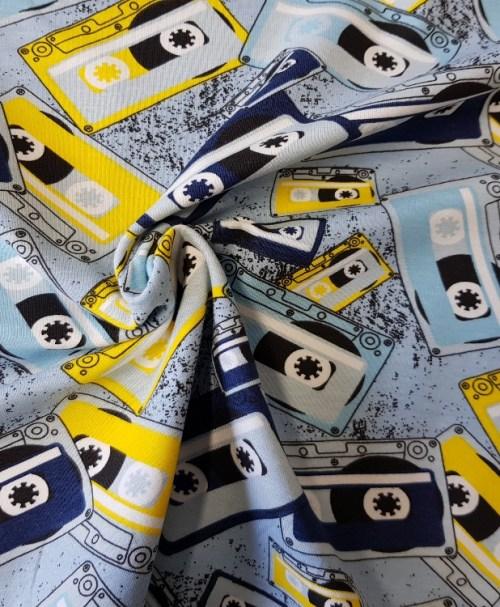 Jersey Music Casette blau/gelb
