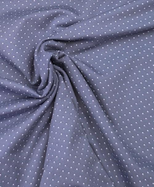 Jersey Minipunkte rauchblau/weiß