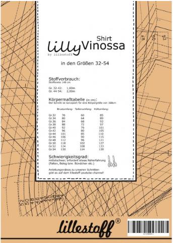 Schnittmuster T-Shirt VINOSSA