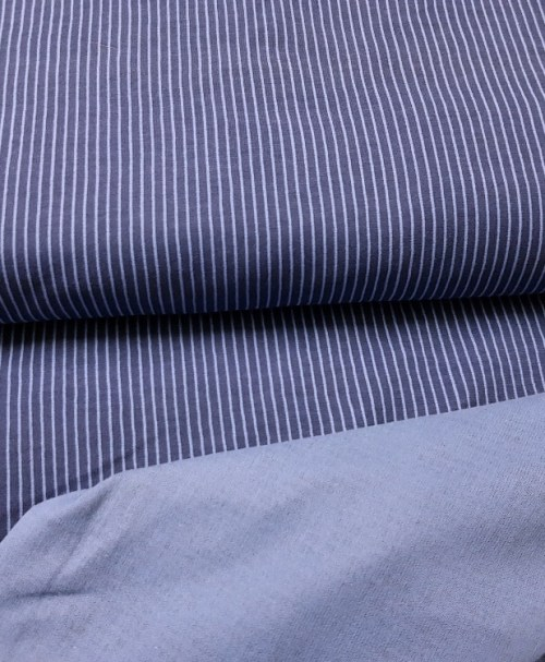 Lillestoff Jersey längsgestreift blau/taubenblau