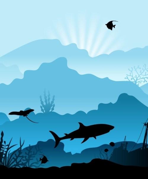 VORBESTELLUNG Jersey Wild Shadows by lycklig design Taucher blau