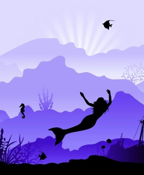 Jersey Wild Shadows by lycklig design Meerjungfrau lila