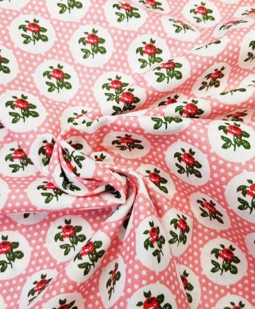 Webware Flowers and Dotties pink