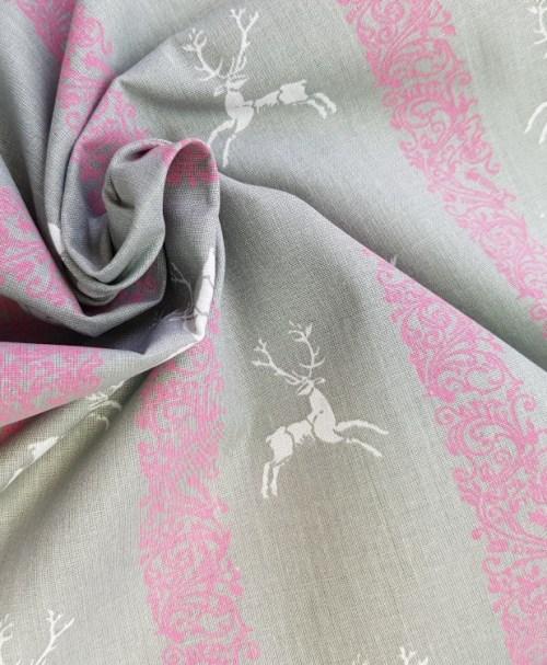 Webware Hirsch grau/rosa