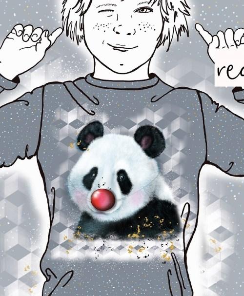 Lillestoff Jersey Rapport Red Nose Panda
