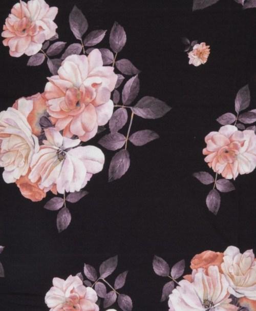 Jersey Matti Blumen schwarz/rosa