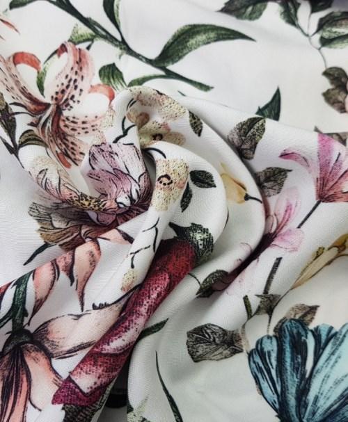 Viskose Fleur blanc