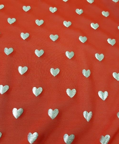 Mesh silver hearts rot