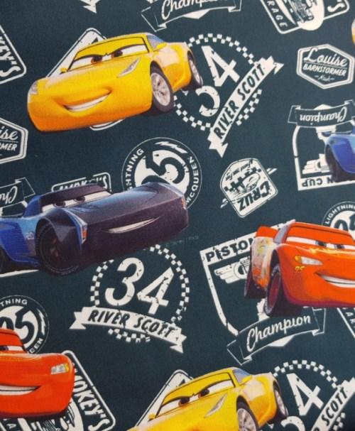 Baumwoll-Webware Lizenz Cars 3 rauchblau