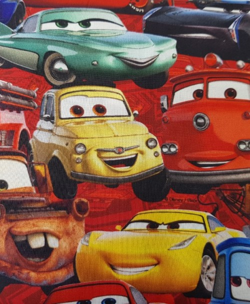 Baumwoll-Webware Lizenz Cars 3 bunt