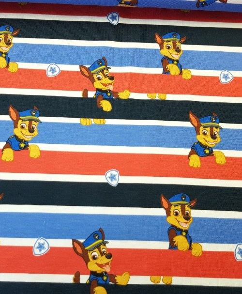 Lizenzjersey Paw Patrol Chase Streifen blau/rot