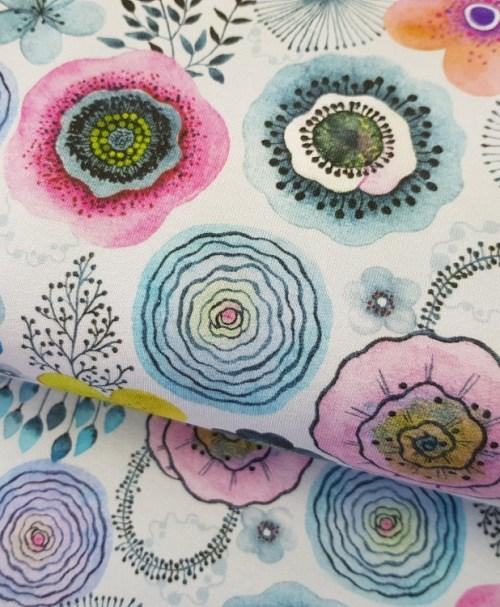 Fräulein von Julie Sommersweat Aquarellblumen