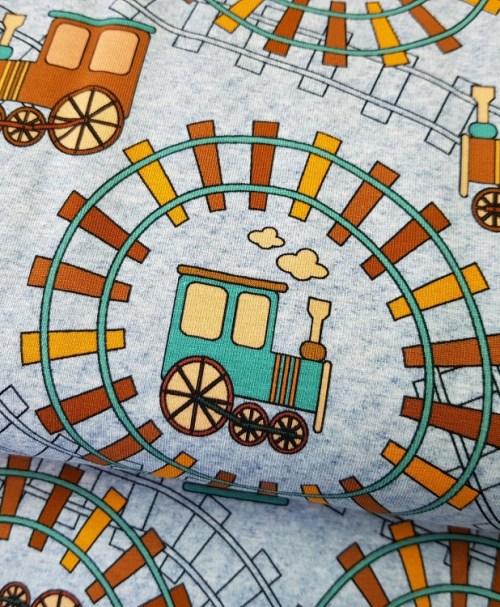 Reststück 0,6m 8,40€ Fräulein von Julie Jersey Eisenbahn