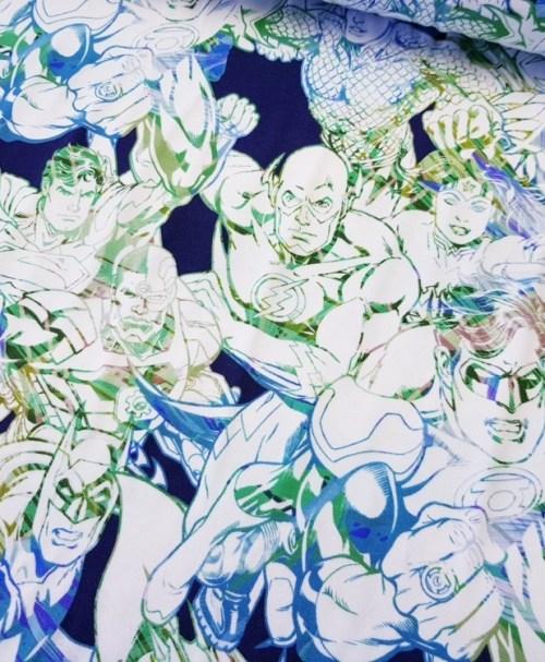 Lizenzjersey Justice League blau/grün