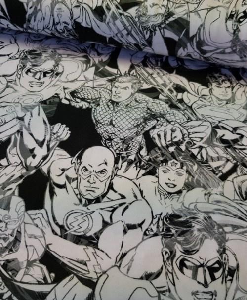 Lizenzjersey Justice League schwarz/weiß