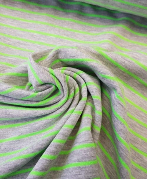 Jersey Streifen Neon grün