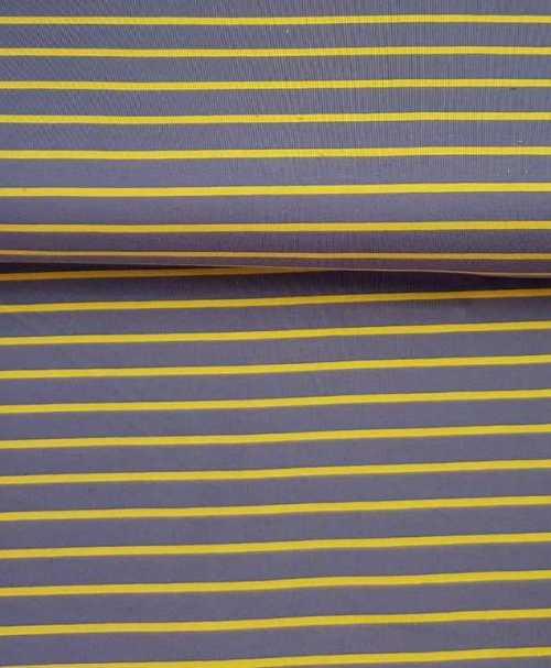 Sommersweat Streifen grau/senf