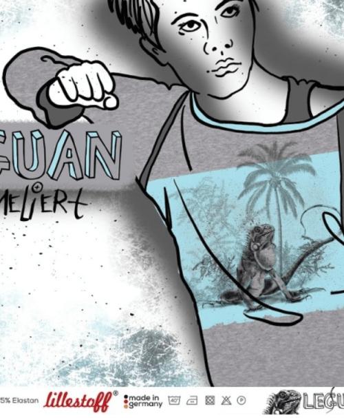 VORBESTELLUNG Lillestoff Jersey Rapport Leguan, meliert