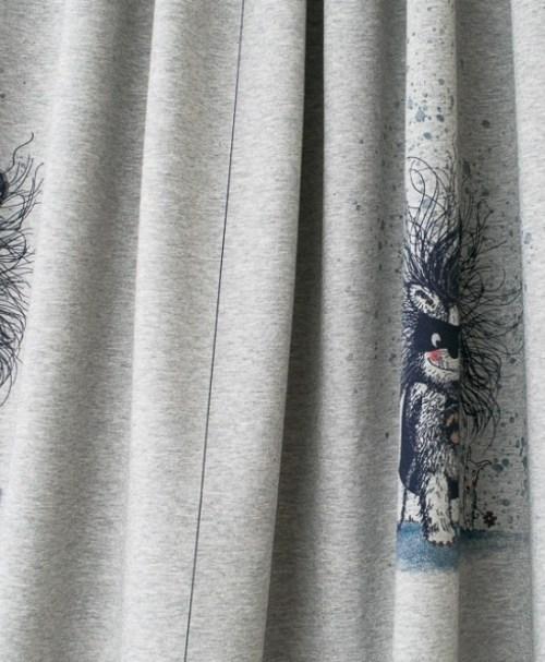 Lillestoff Jersey Monsterhelden T-Shirt Panel, meliert