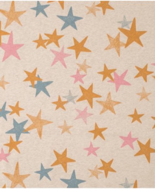 Lillestoff Jersey When It´s Dark Look For Stars senfblaupink, meliert