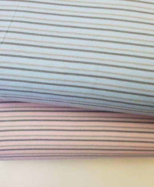 Jersey Streifen hellblau/hellgrau/grau