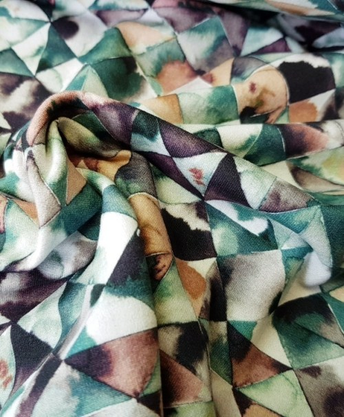 Sommersweat Moody Triangle petrolgrün