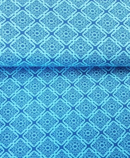 Klaranähta Jersey Tiles blau