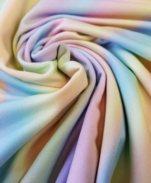 Sommersweat Rainbow Stripes pastell