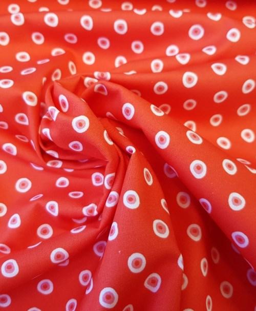 Baumwolle Webware Steinbeck Marienkäfer Punkte rot/weiß