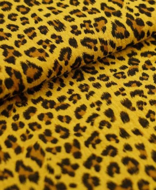 Musselin Leopard senf